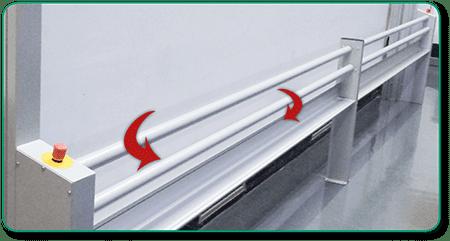Höhenverstellung mittels Drehstangen-Schaltung