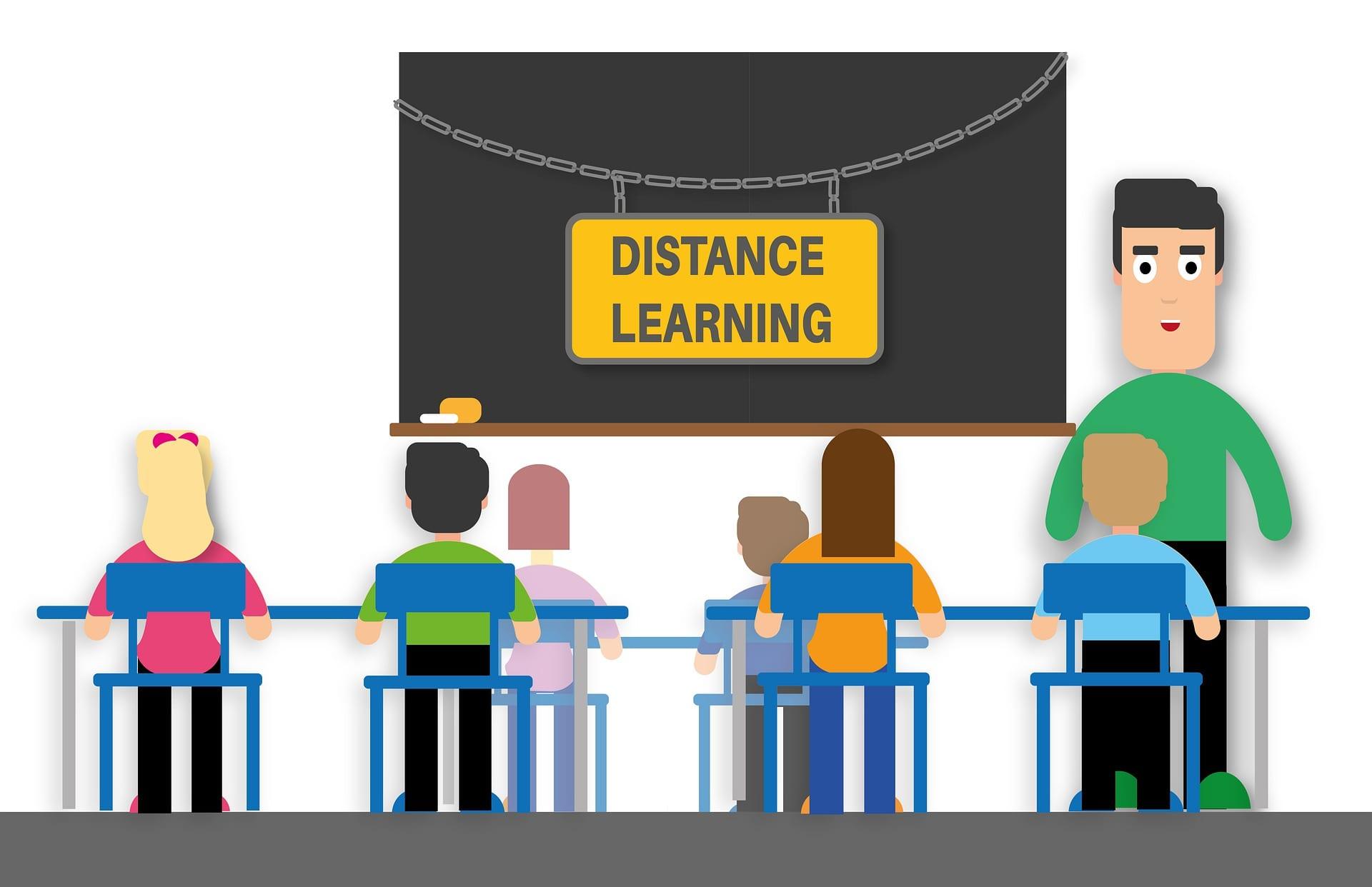 Hybrides Klassenzimmer